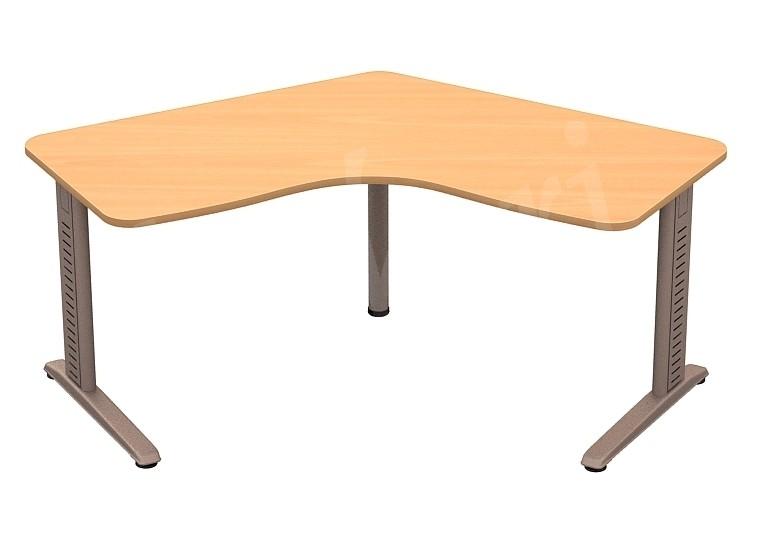 Az L alakú íróasztalon minden elfér